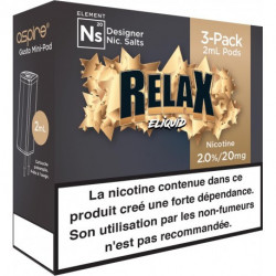 Pods Relax - Gusto NS - Eliquid France | Pack x3