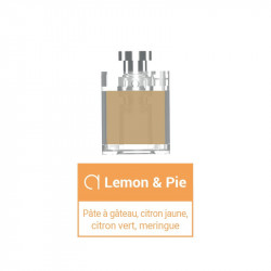 Pods Lemon & Pie pour Slym Aspire - Instinct gourmand Alfaliquid | 1,8ml x3